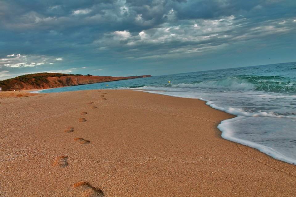 A picture of a beach on the Black Sea