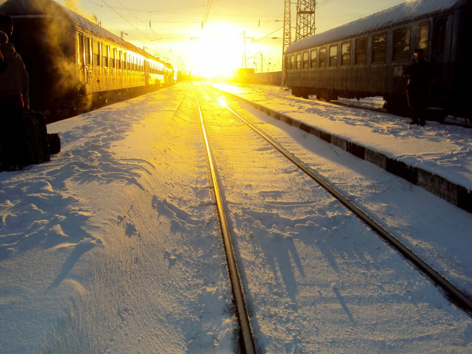 A picture of trains in Bulgaria